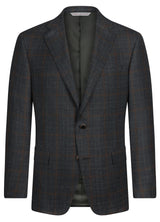 Olive Grey Glencheck Windowpane Jacket - Classic Fit