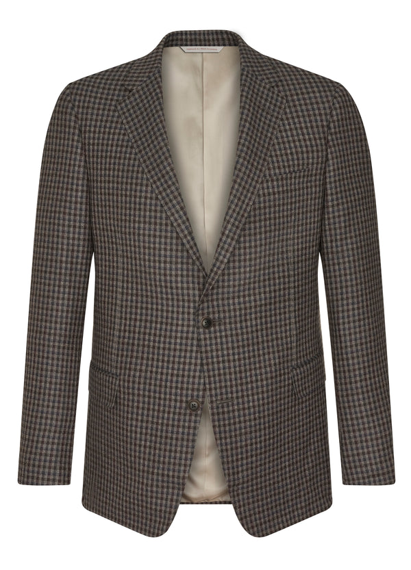 Taupe Mini Check Jacket