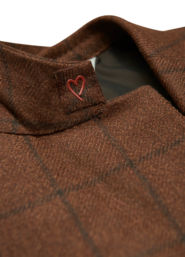 Copper Windowpane Dreamtweed Jacket -Trim Fit