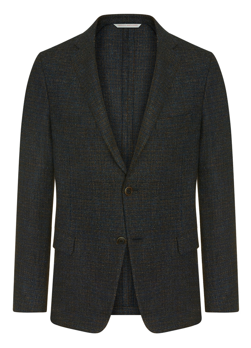Canadian made Blue Minicheck Jacket from Samuelsohn