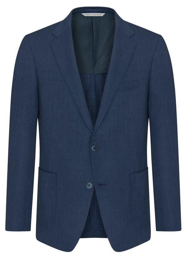 Canadian made Blue Textures Hopsack Jacket from Samuelsohn