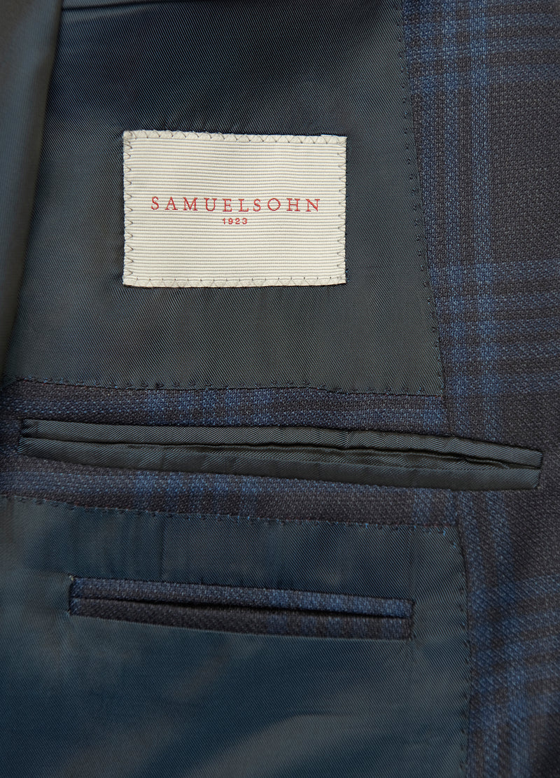 Navy Blue Tonal Check Jacket