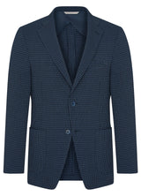 Canadian made Blue Minicheck Seersucker Jacket from Samuelsohn