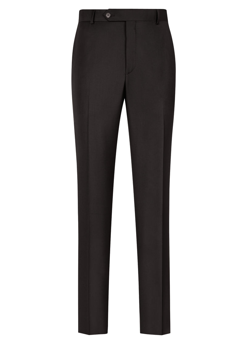 Black Flat Front Trousers