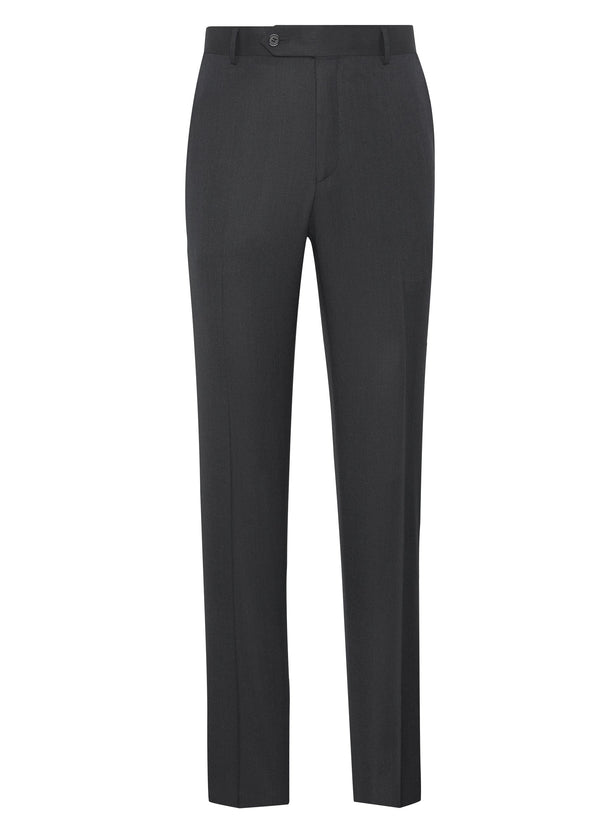 Super 110s Twill Trousers – Charcoal