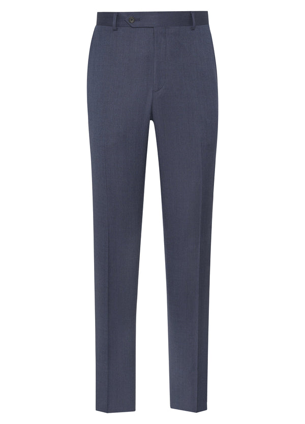 Super 110s Twill Trousers – Blue