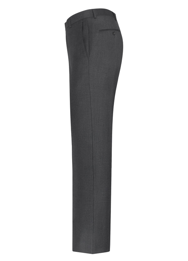 Grey Classic Flat Front Trousers