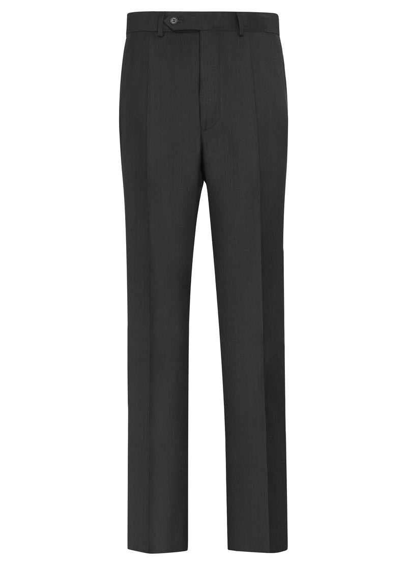 Canadian made Charcoal Double Reverse Pleat Trousers from Samuelsohn