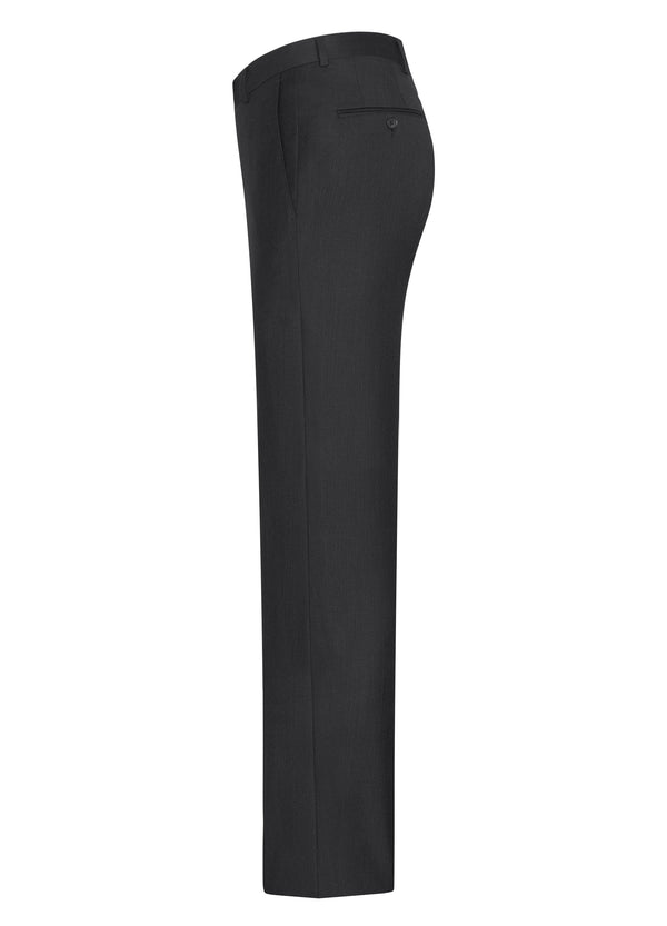 Black Classic Flat Front Trousers