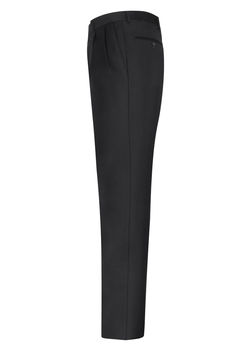 Charcoal Double Reverse Pleat Trousers