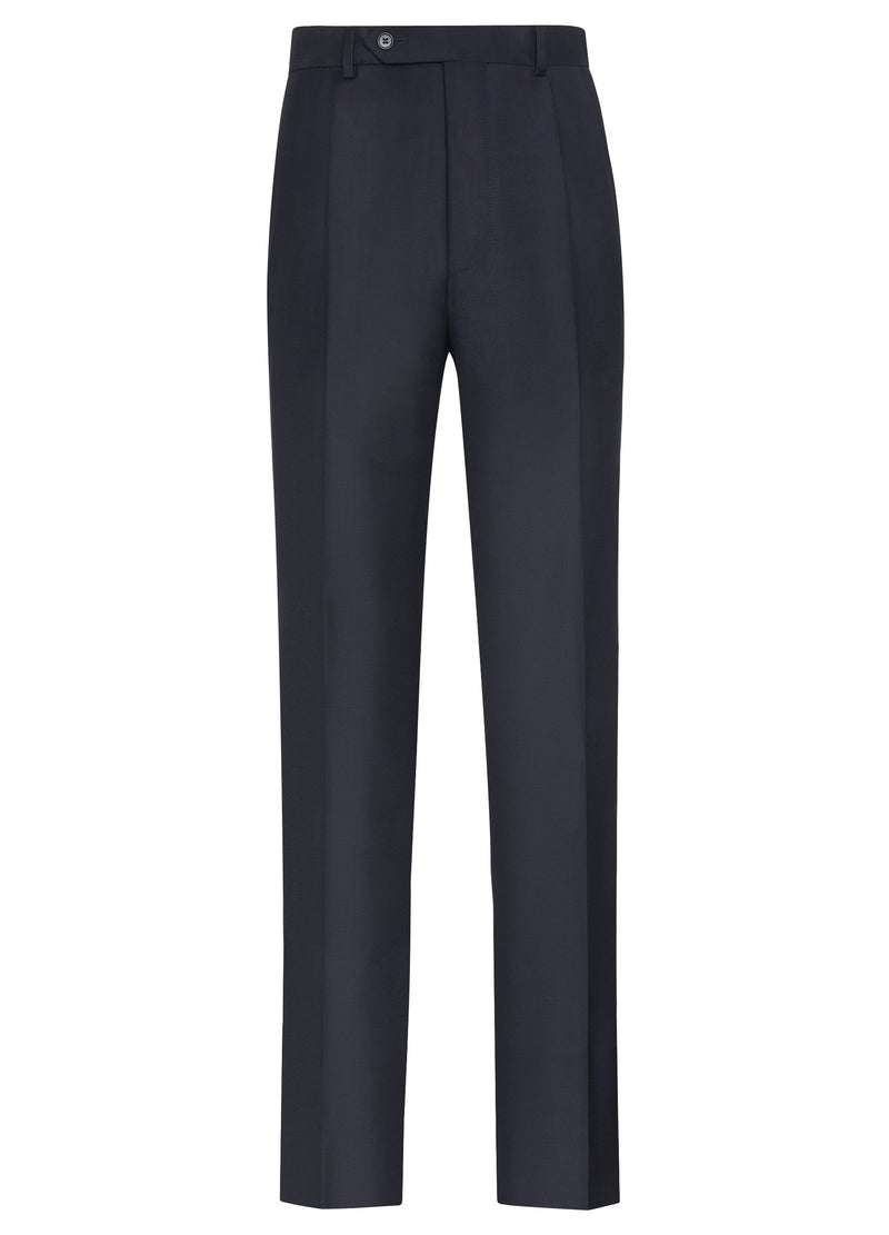 Canadian made Navy Double Reverse Pleat Trousers from Samuelsohn