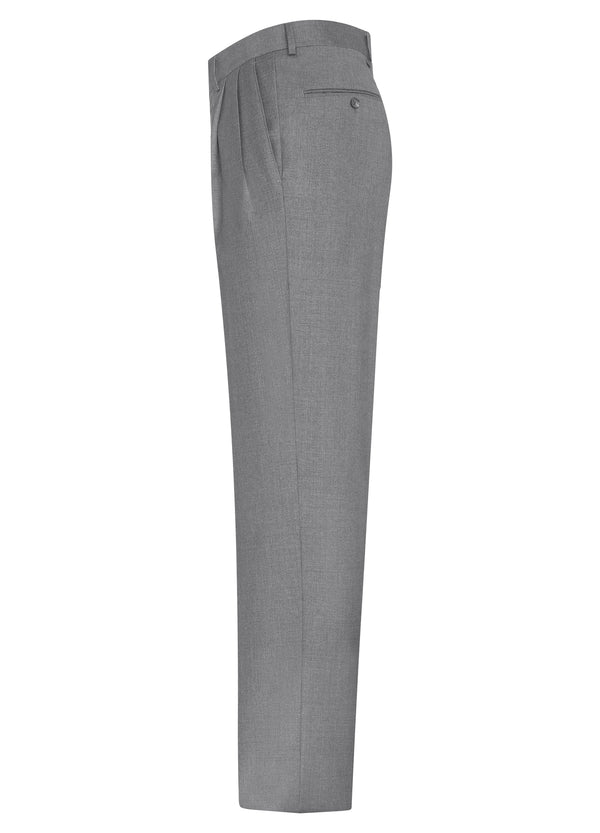 Light Grey Double Reverse Pleat Trousers