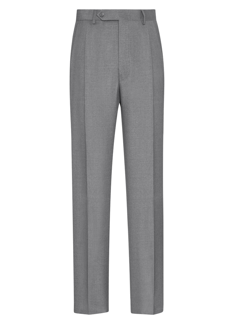 Canadian made Light Grey Double Reverse Pleat Trousers from Samuelsohn