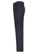 Dark Blue Classic Flat Front Trousers