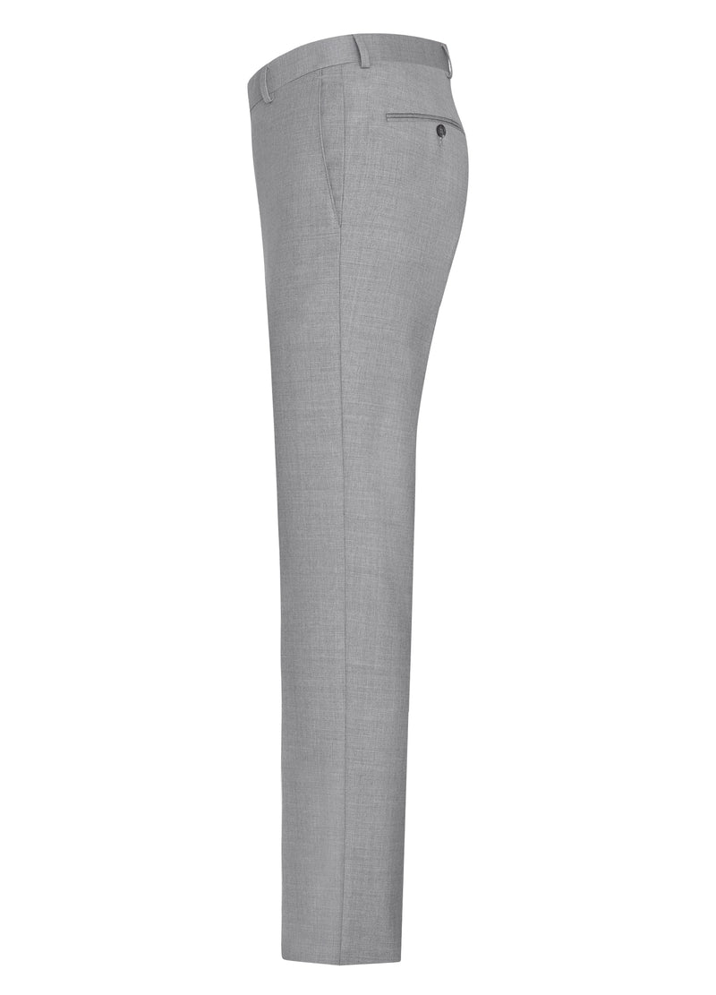 Silver Grey Flat Front Trousers