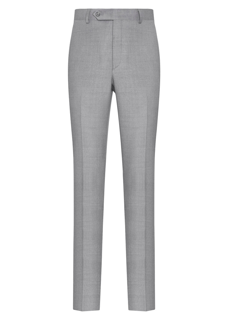 Canadian made Silver Grey Flat Front Trousers from Samuelsohn