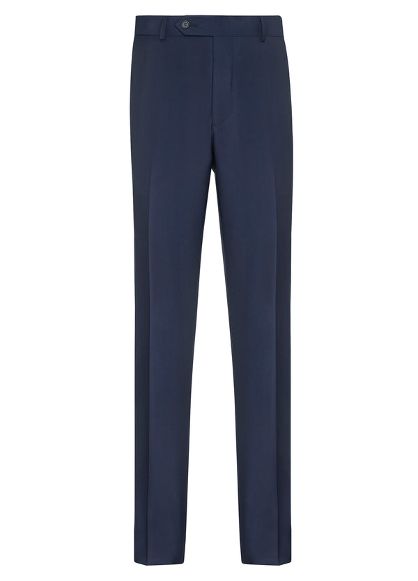 Dark Blue Flat Front Trousers