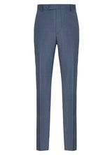 Canadian made British Blue Flat Front Trousers from Samuelsohn