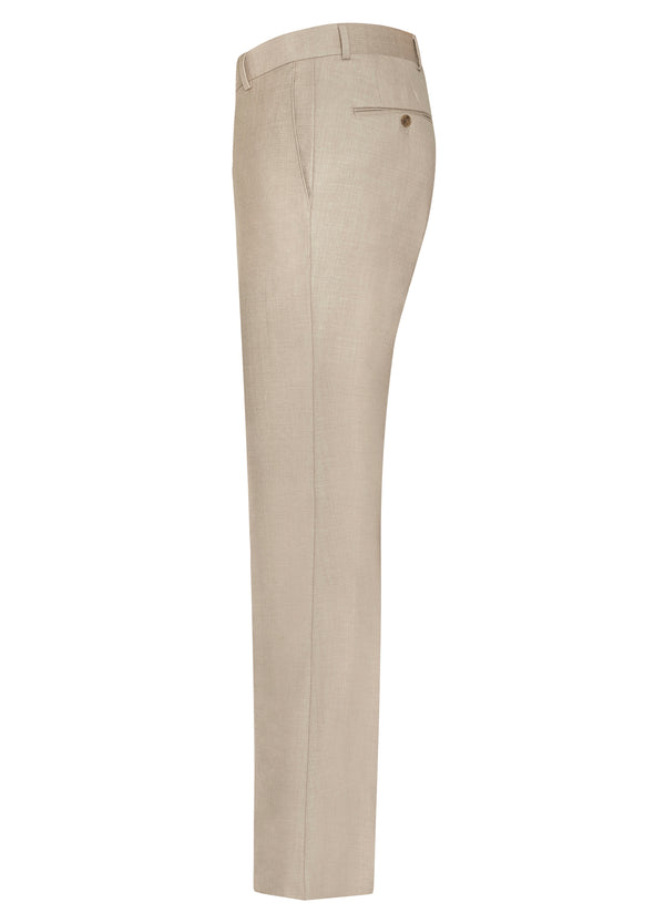 Beige Flat Front Trousers