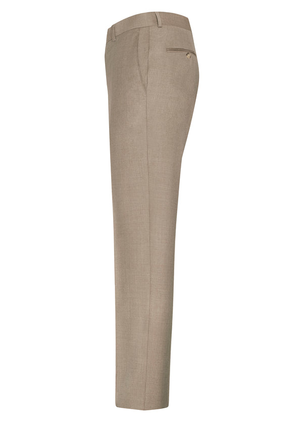 Tan Flat Front Trousers