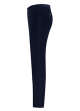 Navy Cotton Cashmere Minicord Trousers
