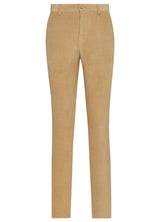 Canadian made Tan Cotton Cashmere Minicord Trousers from Samuelsohn