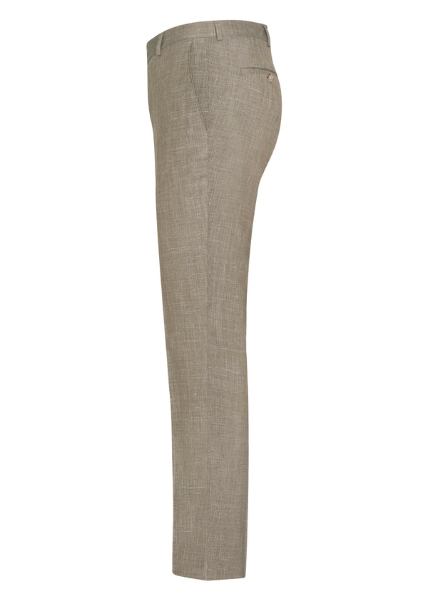 Taupe Summertime  Trim Fit Trousers