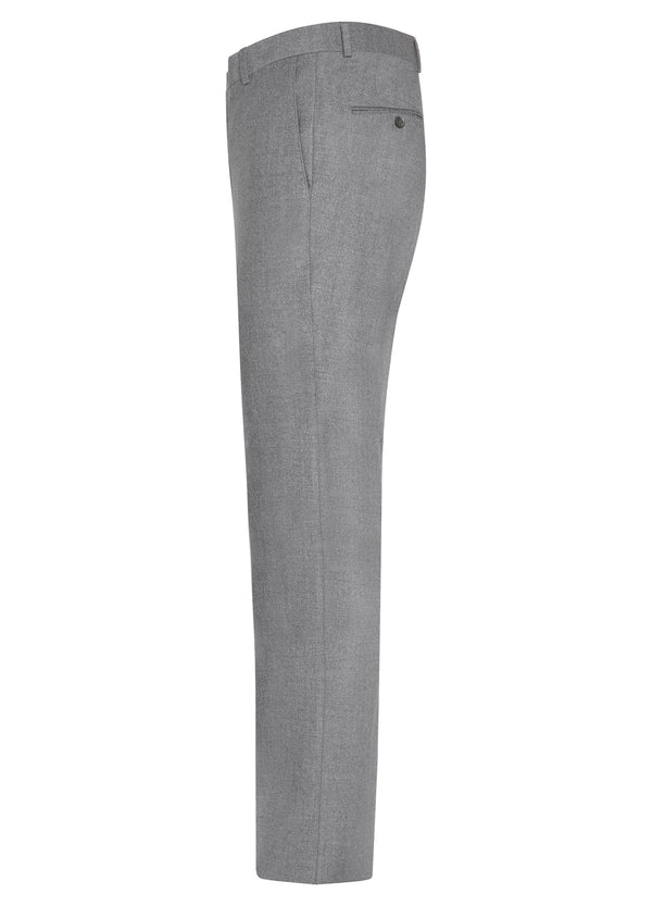 Light Grey Ice Flannel Flat Front Trousers