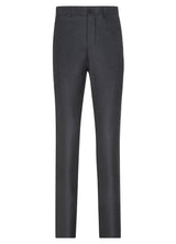 Canadian made Dark Grey Ice Flannel 5-Pocket Trouser from Samuelsohn