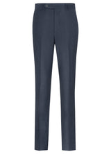 Canadian made Blue Ice Flannel Flat Front Trouser from Samuelsohn