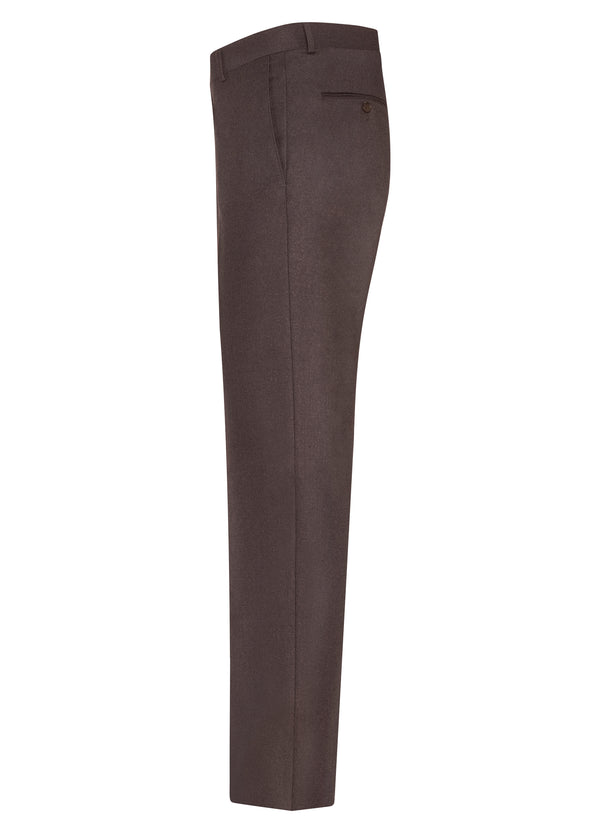 Bordeaux Ice Flannel Flat Front Trousers
