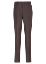 Canadian made Bordeaux Ice Flannel Flat Front Trousers from Samuelsohn