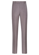 Canadian made Dusty Rose Flat Front Trousers from Samuelsohn