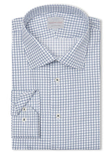Canadian made Navy Grid Check Shirt from Samuelsohn
