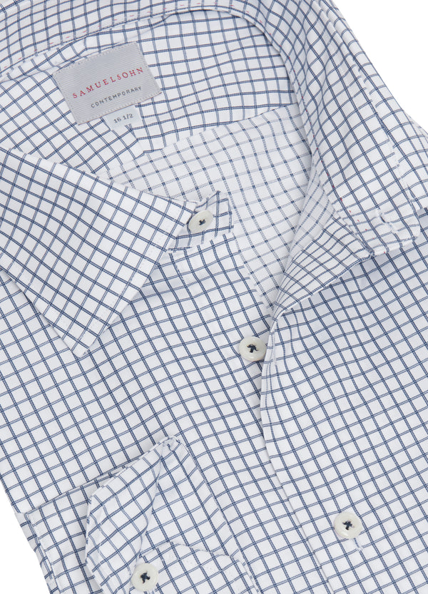 Navy Grid Check Shirt