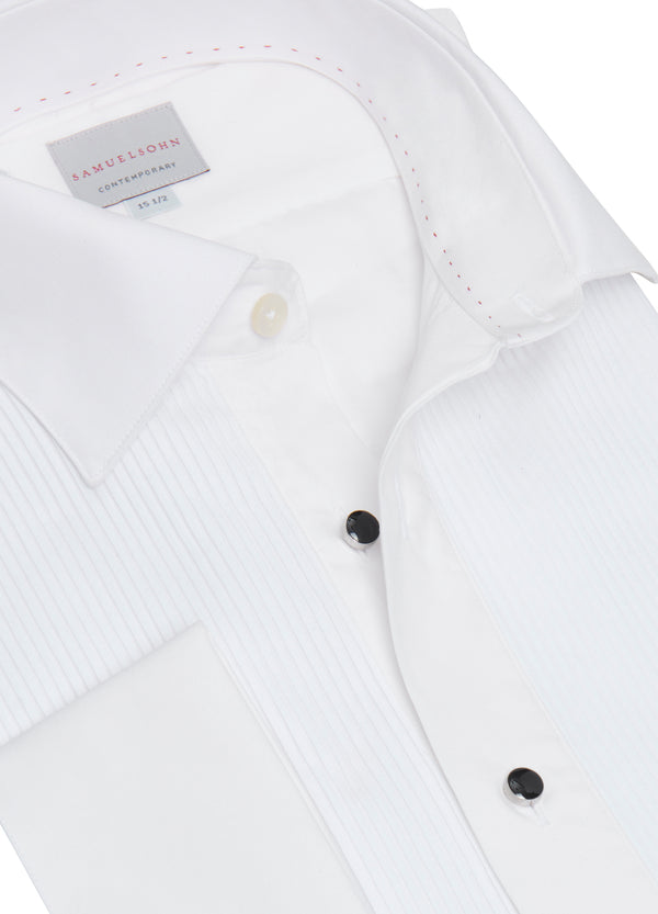 Plissé Bib Formal Shirt