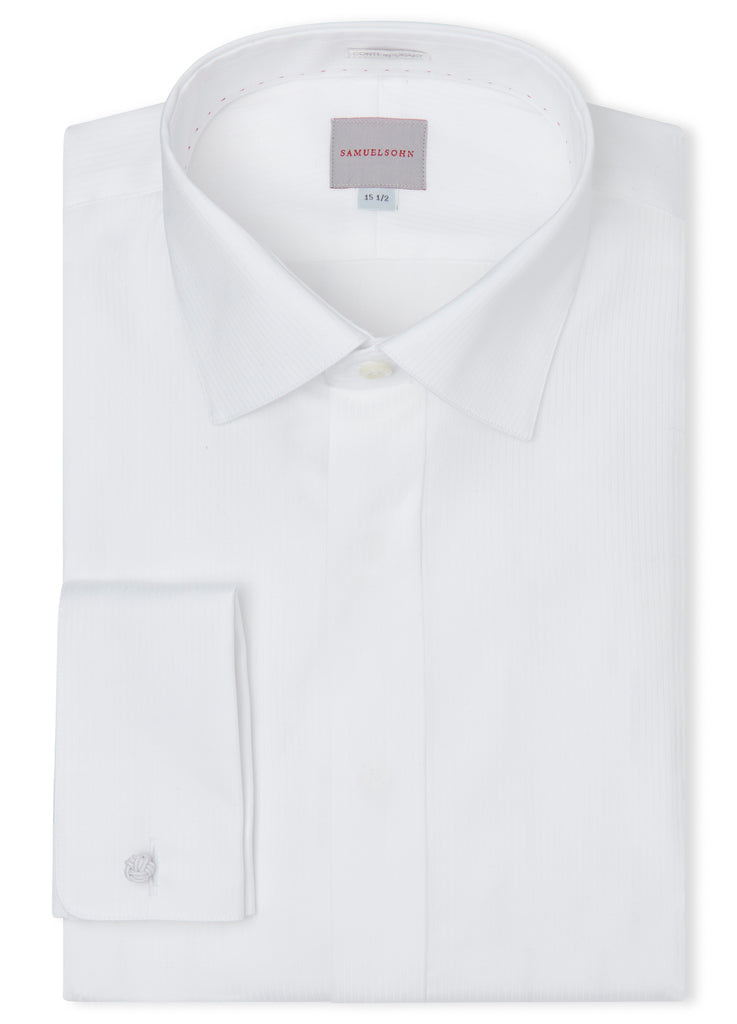 Canadian made Euro Spread French Cuffs Shirt from Samuelsohn