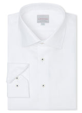 Canadian made White Royal Twill Shirt from Samuelsohn