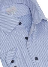 Textured Blue Gingham Shirt
