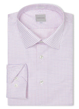 Canadian made Pink & Blue Twill Check Shirt from Samuelsoh