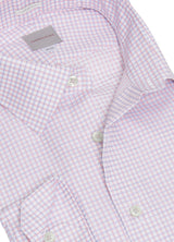 Pink & Blue Twill Check Shirt