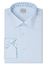 Canadian made Ribbed Blue Micro Stripe Shirt from Samuelsohn