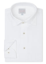 Canadian made Classic White Seersucker Shirt from Samuelsohn