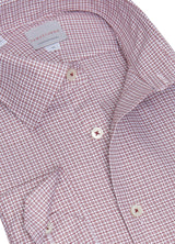 Wine Twill Devon Check Shirt