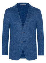 Blue Summertime Knit Double Face Jacket