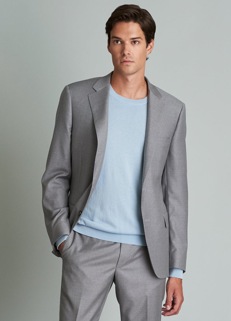 Light Grey Ice Wool Suit