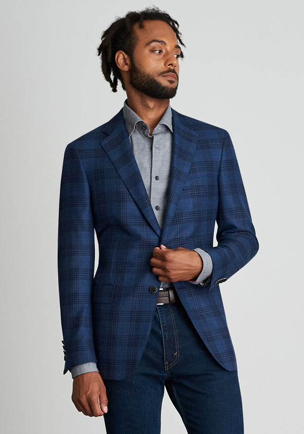 Zelander Blue Plaid Jacket