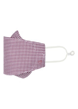 Wine Gingham Pinpoint Oxford Mask