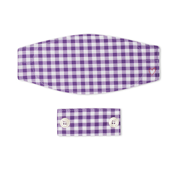 Plum Chambray Gingham Mask