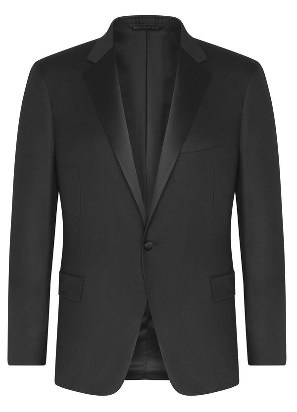 Black Super 120s Wool Notch Tuxedo